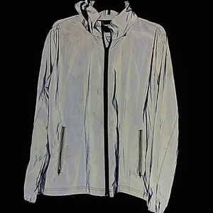 American Eagle Reflective Windbreaker jacket Grey